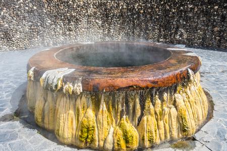 rocks water: Hot springs pool at Raksawarin Public Park in Ranong, Southern Thailand