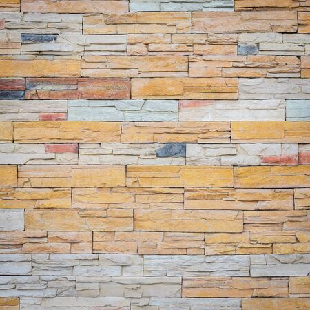 travertine: Close up Pattern of travertine natural stone wall texture and background Stock Photo