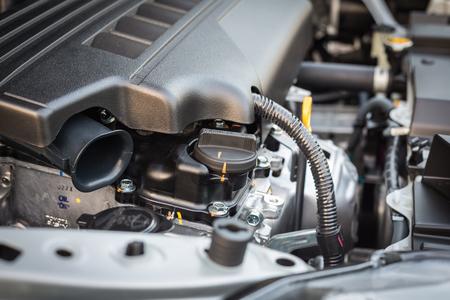 mecanica industrial: De cerca los detalles de un nuevo motor de un coche