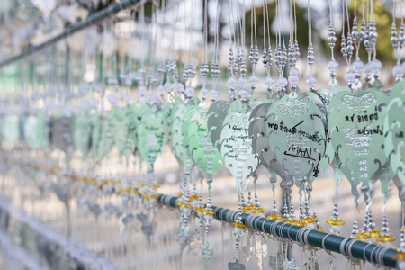 wrote: CHIANG RAI, THAILAND - JANUARY 21 :The silver Pho decoration for wrote name of prayer in Wat Rong Khun Temple on January 21, 2016 in Chiang Rai, Thailand.