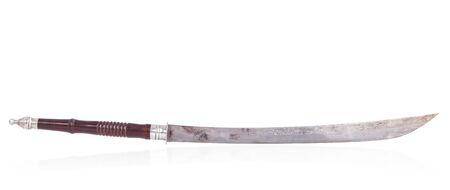 scheide: Traditionelle Thai-Stil Schwert isoliert auf weißem Hintergrund Lizenzfreie Bilder