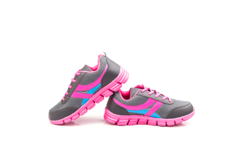 sport shoe: New pink sport shoe isolated on white background