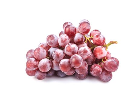 bunch up: Close up bunch of red grapes isolated on white background