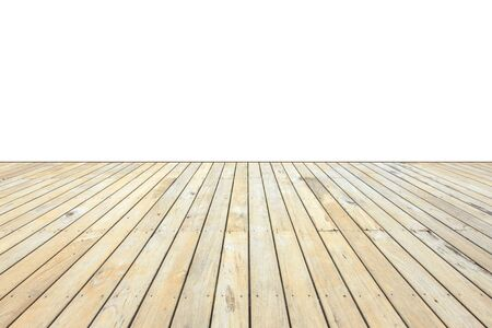 decking: Old exterior wooden decking or flooring isolated on white background.