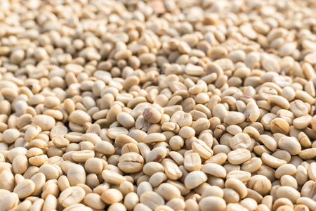 Close up pattern of coffee beans, Can use for background Stock Photo