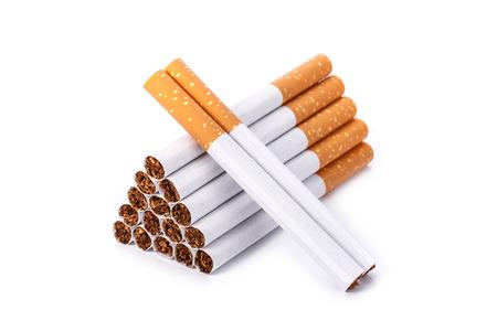 Cigarette. studio shot isolated on a white background Stock Photo