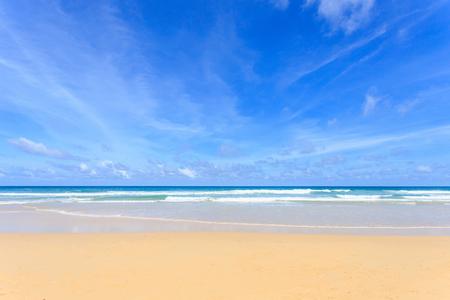 Good weather day at tropical beach, Kata Noi in phuket island, Andaman sea, Thailand