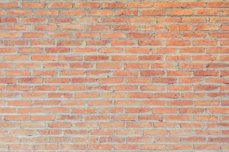 Pattern of new red brick wall interior decoration texture for background Banque d'images