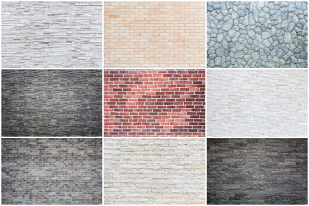 Collection of different natural stone texture use for background