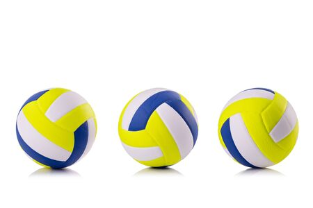 New volleyball ball Studio shot and isolated on white background Zdjęcie Seryjne