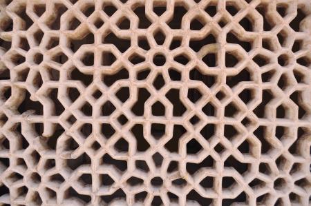 latticework: Latticework in marble Stock Photo