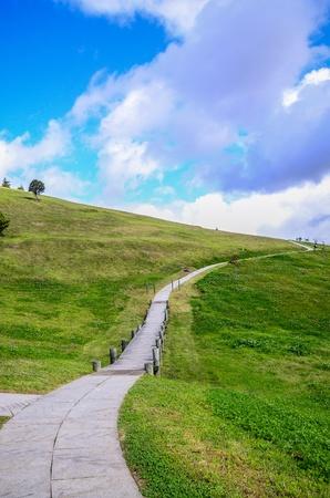 Road to the mountain Stock Photo - 15788928