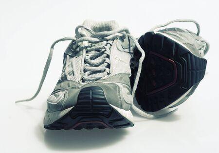 tennis shoe: An isolated pair of sneakers Stock Photo