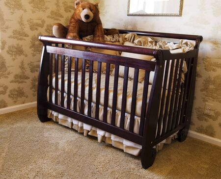 Room Crib and Bear Stock Photo - 769112