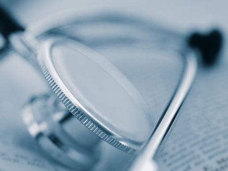 stethoscope on book