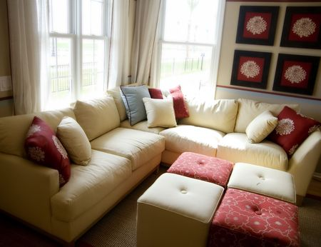 Modern Living Room Interior Design Stock Photo - 830615
