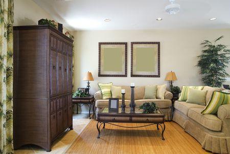 Beautiful New Living Room Stock Photo - 964532