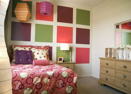 Colorful bedroom photo