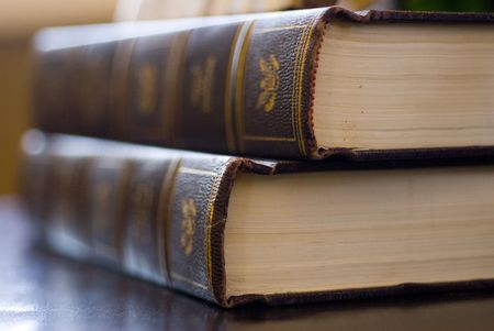 legal document: The Wisdom of Books. Stock Photo