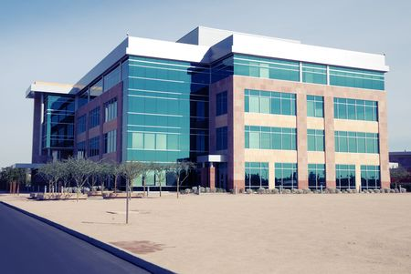 Moderne generieke gebouw exterieur Stockfoto