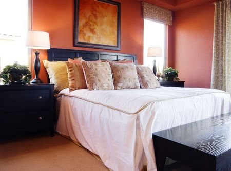 Beautiful bedroom interior design Stock Photo