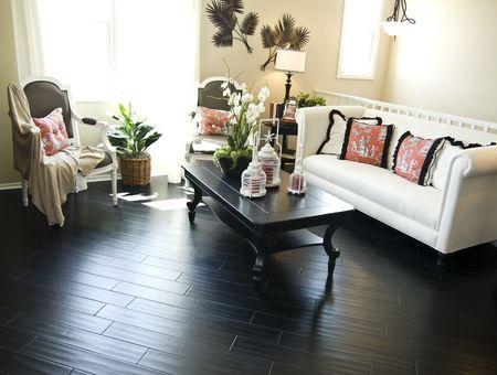 Bright modern inter Design with hard wood flooring Stock Photo - 2802576