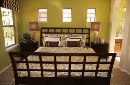 Beautiful bedroom interior design Stock Photo - 3168863