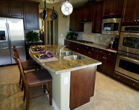 Beautiful modern kitchen inter design Stock Photo - 3241895