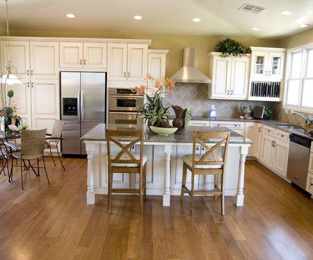clean home: Grote mooie moderne keuken