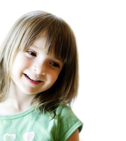 Cute little child smiling photo