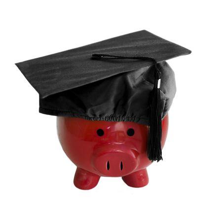 deposit slip: Piggy Bank with college graduation cap