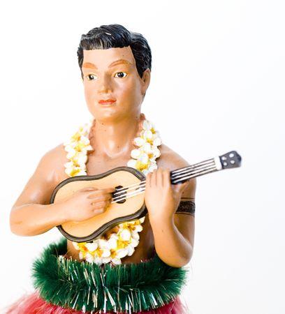 Novelty kitsch performing hula man