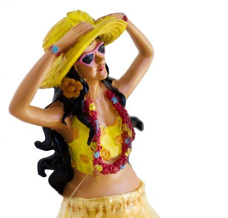 the novelty: Novelty kitsch performing hula girl