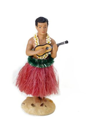 Novelty kitsch performing hula man photo