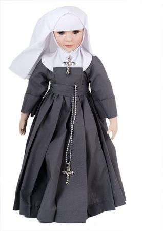 religious clothing: Portrait of a doll of a nun