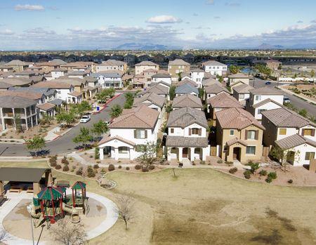 gilbert: Community shot from high vantage point of housing development Stock Photo