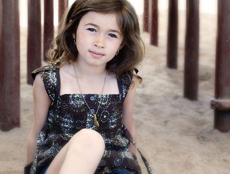 Portrait of a pretty girl Banco de Imagens - 5226008