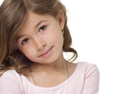 かわいい女の子の肖像画 写真素材