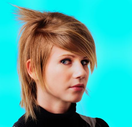 Emo girl punk hair style Stock Photo - 5226015