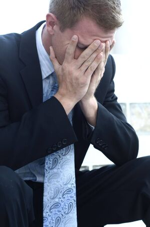 Stressed out business man. Stock Photo - 4770004