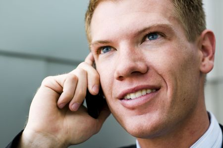 Man talking on cell phone Stock Photo - 4786838