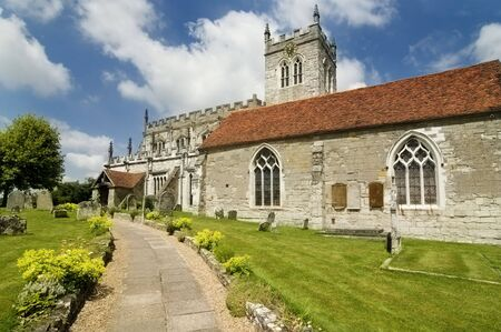 anglo saxon: St Peters, an Eighth century Saxon church in Wootton Wawen,near Stratford-Upon-Avon in England