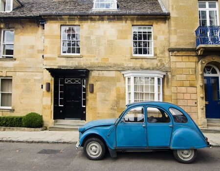 parked: Classic vintage French car