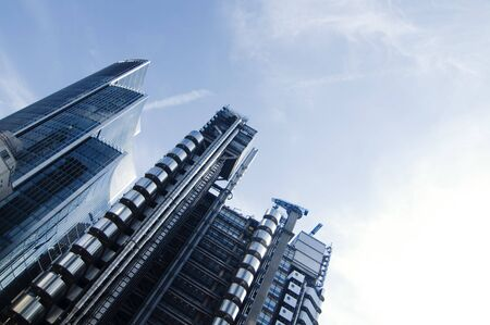 lloyds london: Modern financial and business architecture in London, England