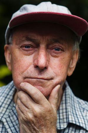 Woried concern thinking retired senior pensioner man Stock Photo - 5141924