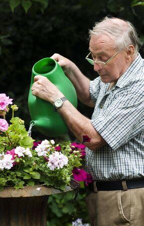 Happy retired senior pensioner man Stock Photo - 5141930