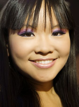 Attractive smiling Asian woman Imagens