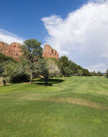 bird 's eye view: Golf resort in Sedona, Arizona