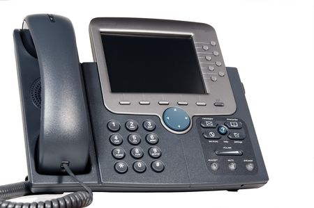 converged: Modern business phone system Stock Photo
