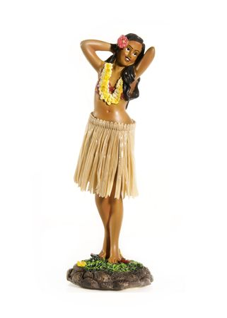 Hula Dancing Hawaiian doll